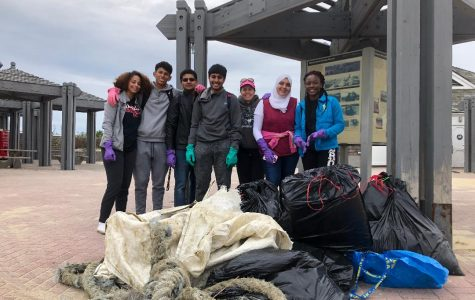 French Honors Society Beach Cleanup