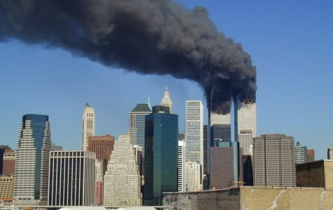 A photo taken of the 9/11 WTC attacks