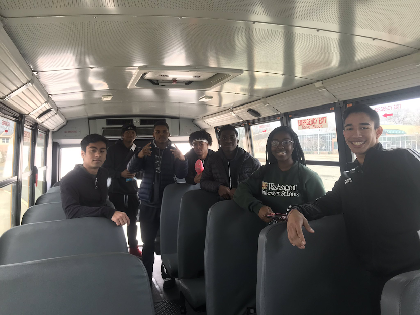 The Mustangs travel to the Group Championships.  Pictured from left to right: Shayan Jafri, Keyshawn Dixon, Kimani Carrington, Michael Calvert, Pharrell Mensah, Auslin Mills, Manny Diaz