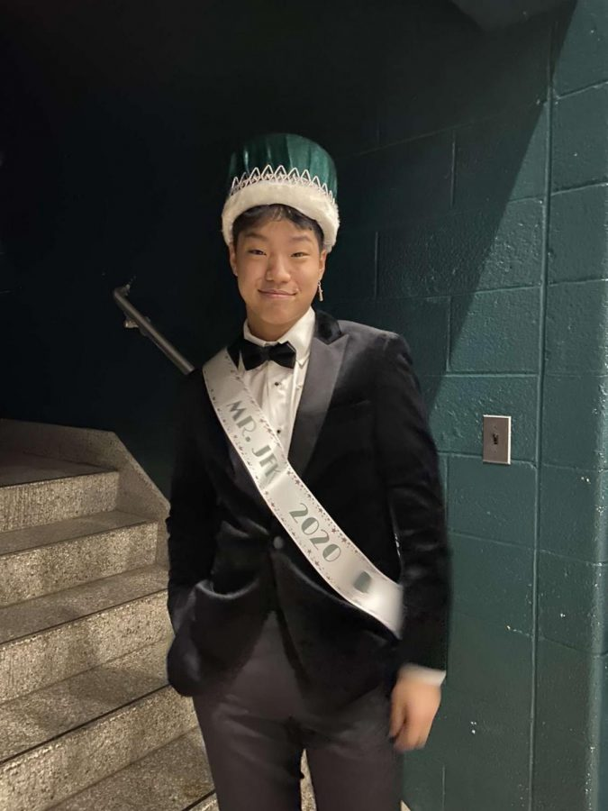 Philip Chun the night he was announced the winner of Mr. JFK.