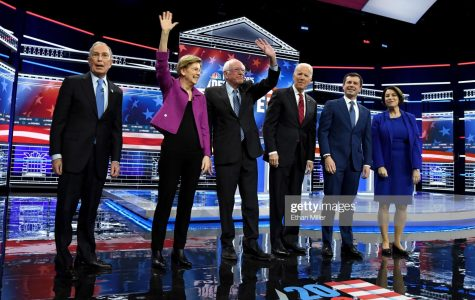 Photo Credit: Photo via Getty Images under the creative commons license. Democratic Candidates getting ready for the debate.