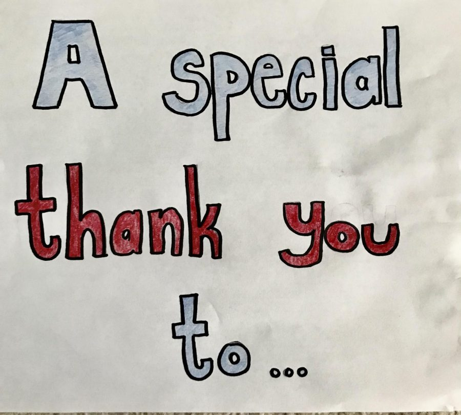 One of the amazing signs created by a JFK cheerleader!