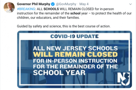 Governor Murphy Officially Closes Schools for the Remainder of the School Year