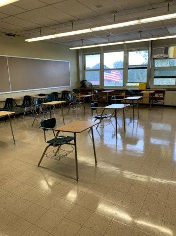 Courtesy of Lindsay Prusicki The new JFK socially distant classroom setups